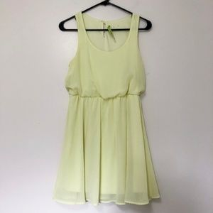 Alice and Olivia Neon Yellow Dress